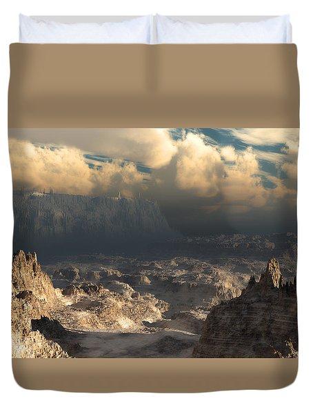 Valley At Dusk Duvet Cover