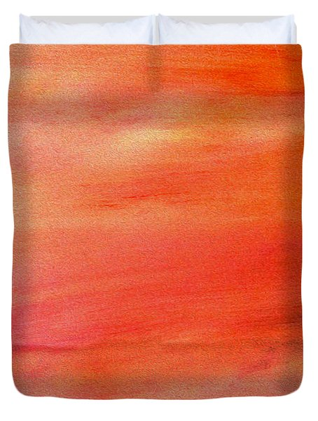 Valley At Sunset Duvet Cover
