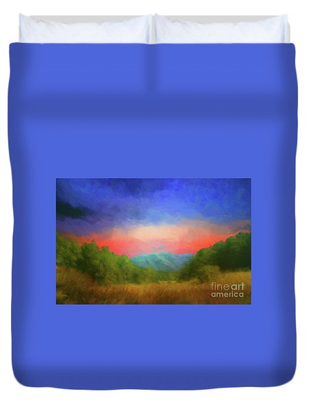 Valley In The Cove Duvet Cover by Geraldine DeBoer