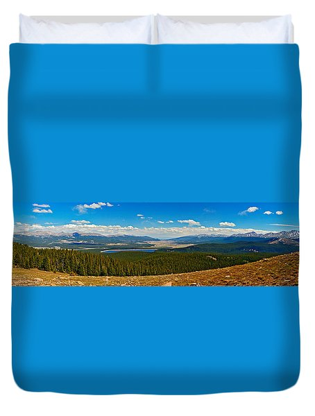 Valley Of 14ers Panorama Duvet Cover by Jeremy Rhoades