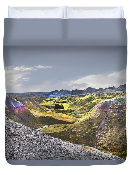 Duvet Cover featuring the photograph Valley Of Beauty,badlands South Dakota by John Hix