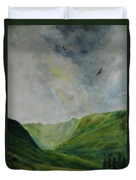 Valley Of Eagles Duvet Cover