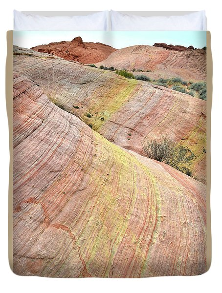 Duvet Cover featuring the photograph Valley Of Fire Pastel Dunes by Ray Mathis