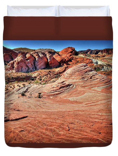 Valley Of Fire State Park Nevada Duvet Cover by James Hammond