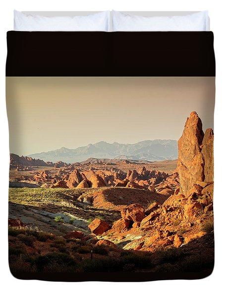 Valley Of Fire Xxiii Duvet Cover