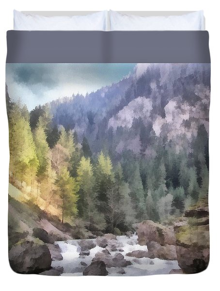 Valley Of Light And Shadow Duvet Cover by Jeffrey Kolker