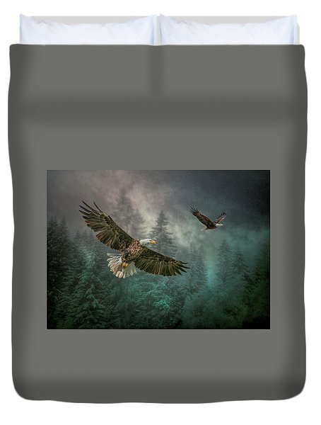 Valley Of The Eagles. Duvet Cover