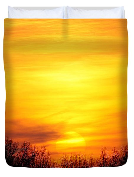 Valley Of The Sun Duvet Cover by Frozen in Time Fine Art Photography