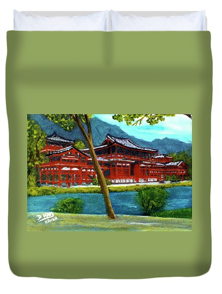 Valley Of The Temples Buddhist Temple #73 Duvet Cover by Donald k Hall