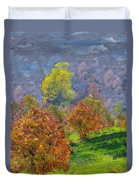 Valley Of The Trees Duvet Cover by Enzie Shahmiri