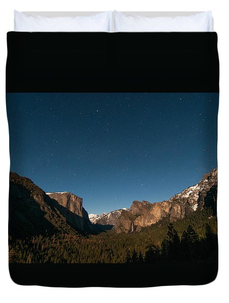 Valley View By Moon Light Duvet Cover