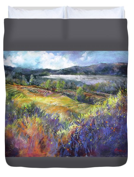 Valley View Duvet Cover by Rae Andrews