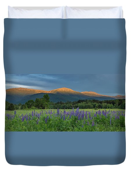 Valley Way Lupine Sunset Duvet Cover