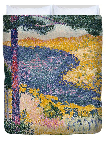 Valley With Fir  Shade On The Mountain, 1909  Duvet Cover