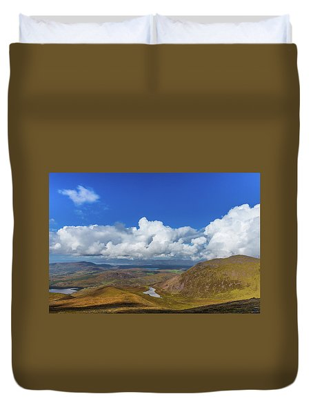 Duvet Cover featuring the photograph Valleys And Mountains In County Kerry On A Summer Day by Semmick Photo