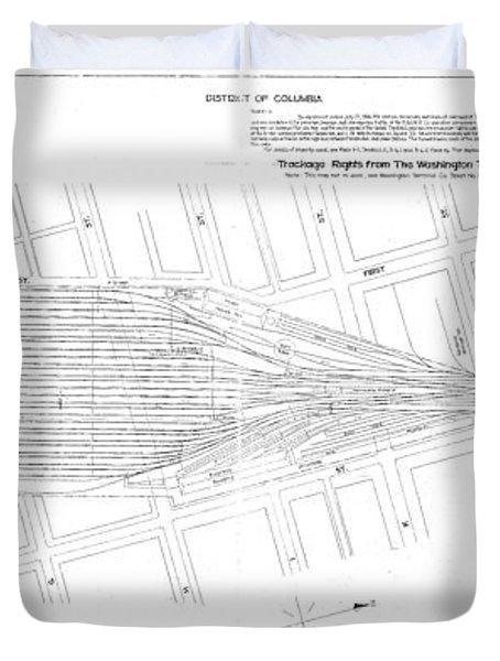 Valuation Map Washington Union Station Duvet Cover