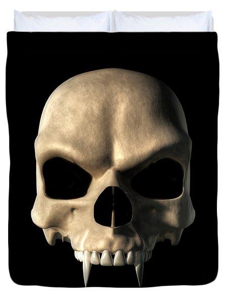 Vampire Skull Duvet Cover by Daniel Eskridge