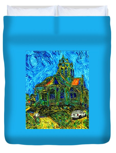 Van Goes To Auvers Duvet Cover