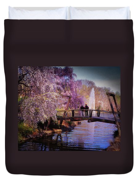 Van Gogh Bridge - Reston, Virginia Duvet Cover