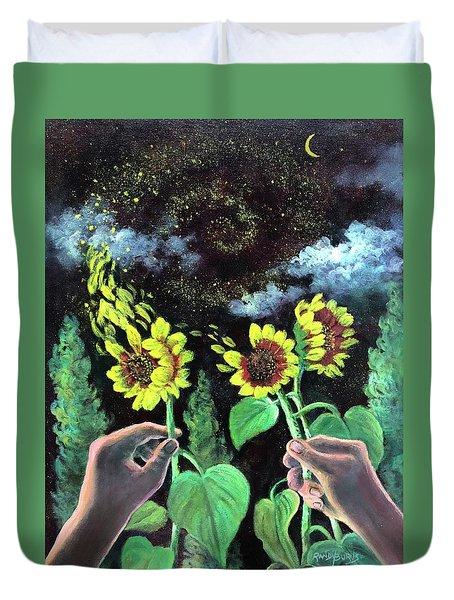 Van Gogh Dreams  Hands To Heaven Series Duvet Cover