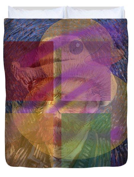 Van Gogh Self Portrait With Felt Hat Duvet Cover