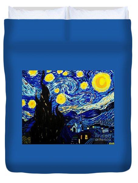 Van Gogh Starry Night  Duvet Cover by Scott D Van Osdol