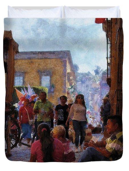 Van Gogh Visits Mexico Duvet Cover