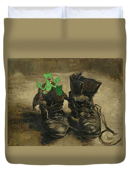Duvet Cover featuring the digital art Van Septilegogh by Greg Sharpe