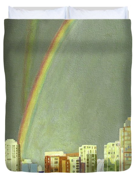 Vancouver Bc Duvet Cover by Lynne Reichhart