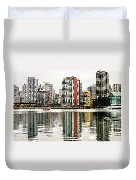 Vancouver Bc Sky Line Duvet Cover