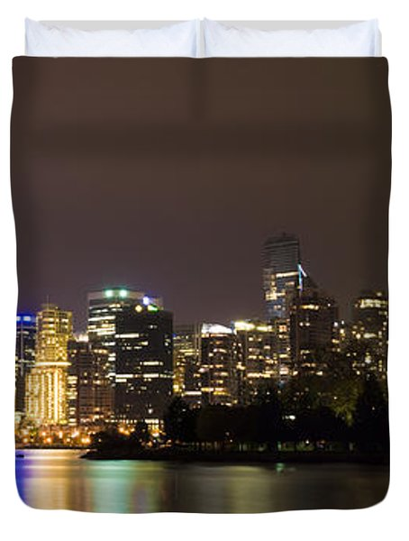 Vancouver By Night Duvet Cover