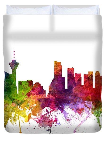 Vancouver Canada Cityscape 06 Duvet Cover