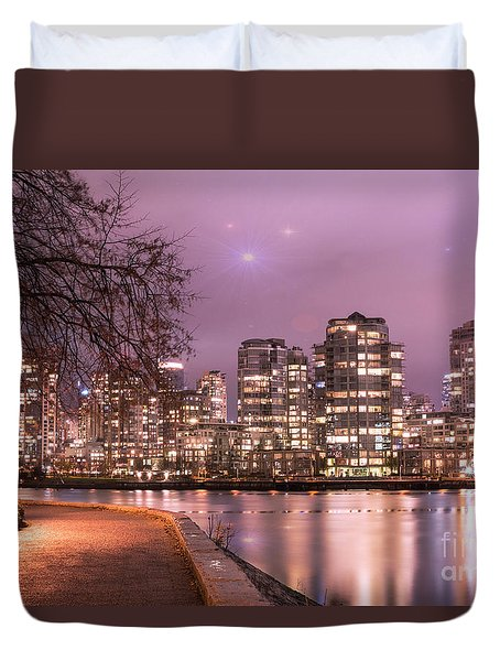 Duvet Cover featuring the photograph Vancouver, Canada by Juli Scalzi