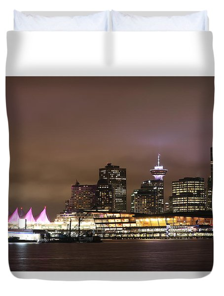 Vancouver Canada Place Duvet Cover