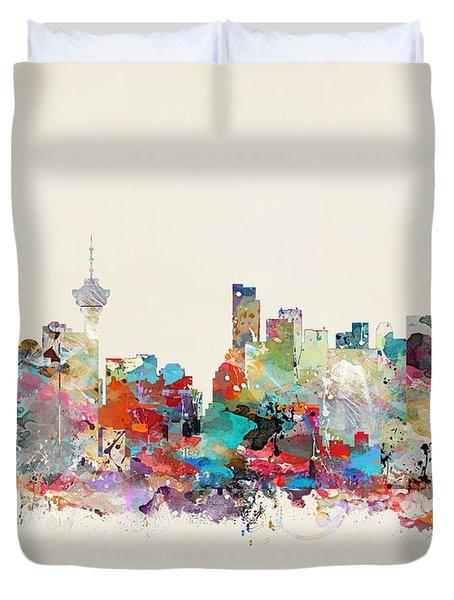 Vancouver Canada Skyline Duvet Cover