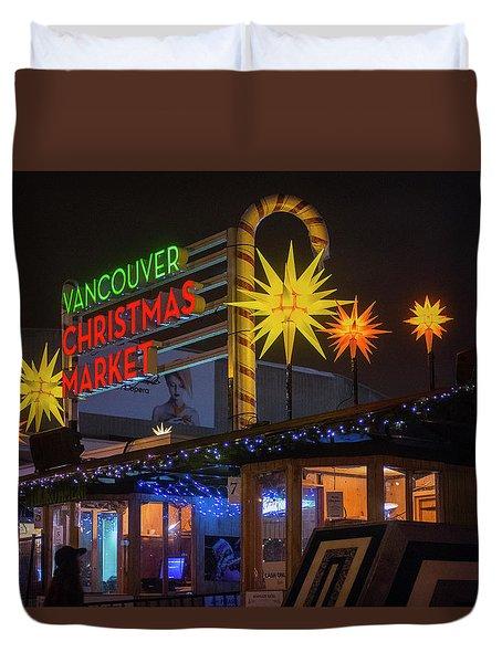 Vancouver Christmas Market  Duvet Cover