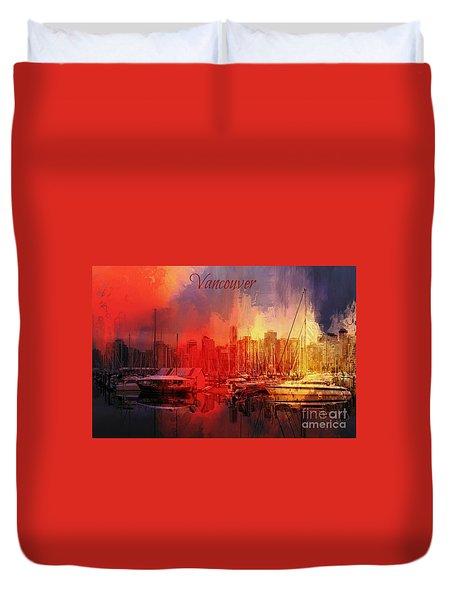 Vancouver Duvet Cover by Eva Lechner