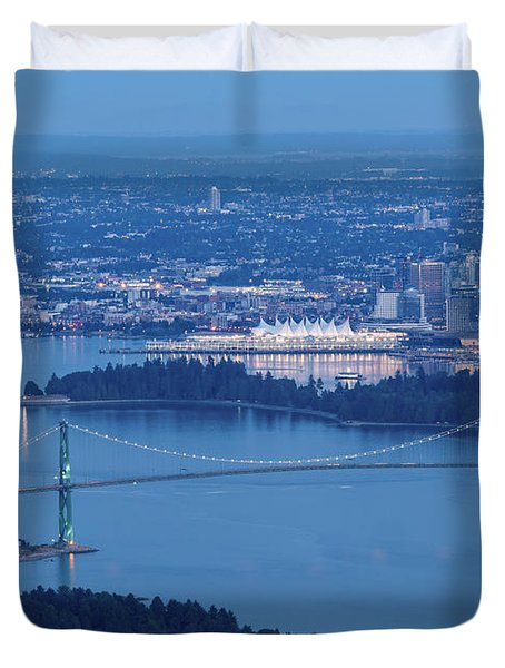 Vancouver Harbour Late Afternoon Duvet Cover