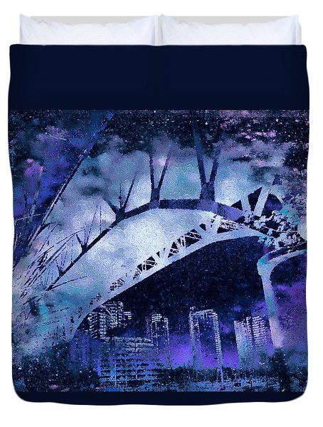 Vancouver Nights Duvet Cover