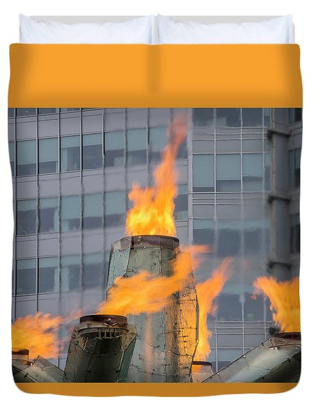 Vancouver Olympic Cauldron 2 Duvet Cover