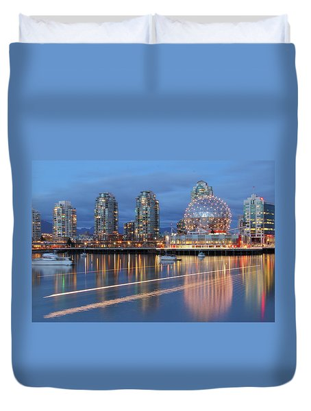 Vancouver Science World Duvet Cover