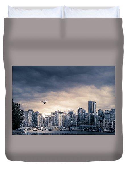 Vancouver Skyline Duvet Cover