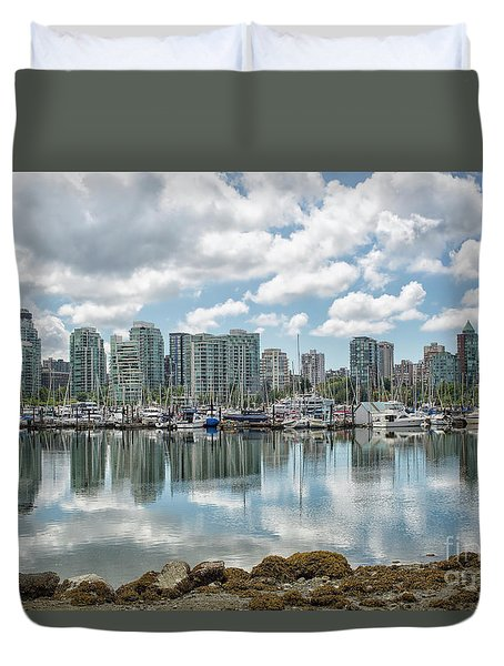 Vancouver Skyline Duvet Cover by Patricia Hofmeester