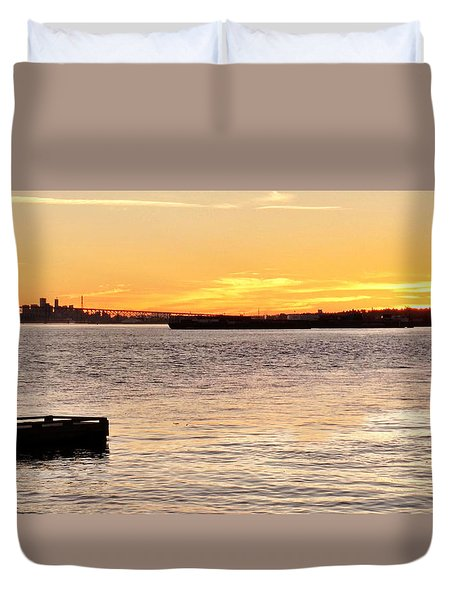 Vancouver Sunset Duvet Cover