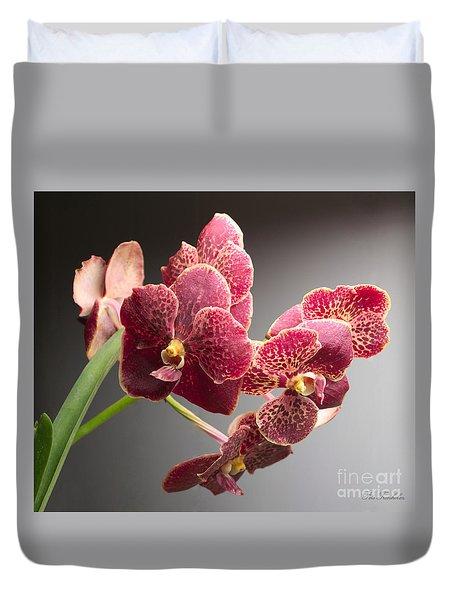 Vanda Orchid Portrait Duvet Cover