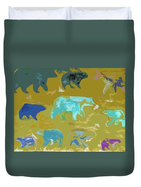 Vanishing Bears Duvet Cover by Robert Margetts