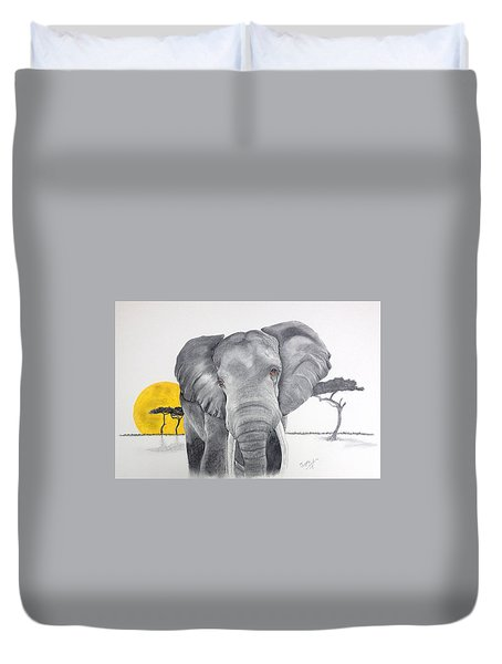 Vanishing Elephant Duvet Cover