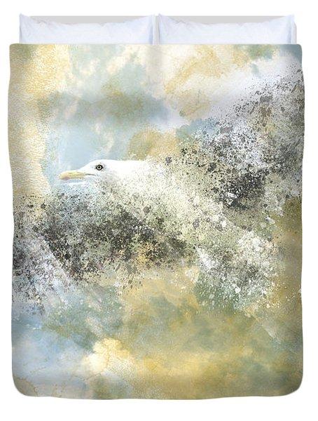 Vanishing Seagull Duvet Cover