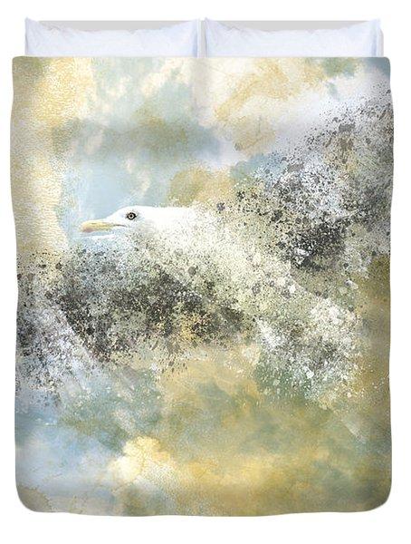Vanishing Seagull Duvet Cover by Melanie Viola