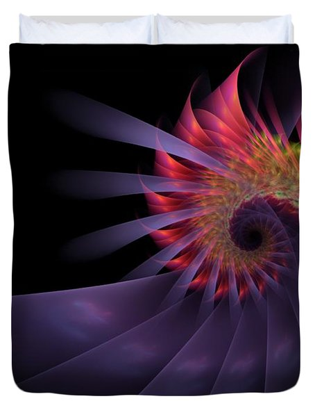 Duvet Cover featuring the digital art Vanquishing Silence by NirvanaBlues